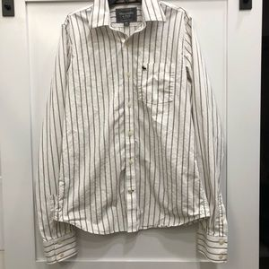 Abercrombie and Fitch Striped, button up shirt